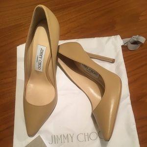 f52a6cb52310 Jimmy Choo Shoes - Never worn Jimmy Choo Romy 100 Nude KID size 36